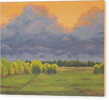 Ominous Forecast Wood Print by Nancy Jolley