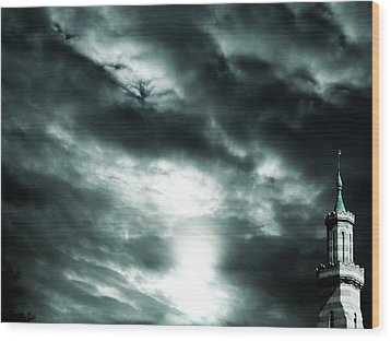 Ominous Skies Wood Print