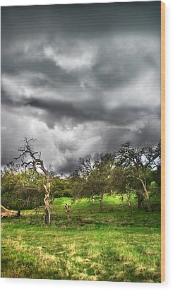 Ominous Storm Brewing Wood Print