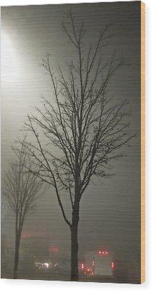 On A Foggy Night Wood Print