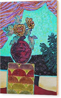 On A Pedestal Wood Print by Diane Fine