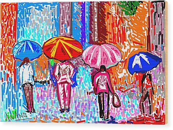 On A Rainy Day Wood Print by Anand Swaroop Manchiraju
