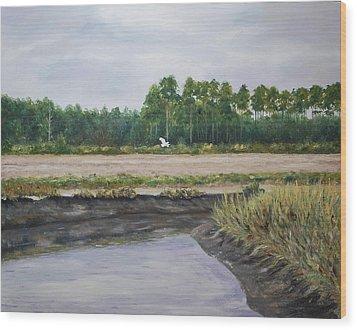 On A Tidal Creek Wood Print