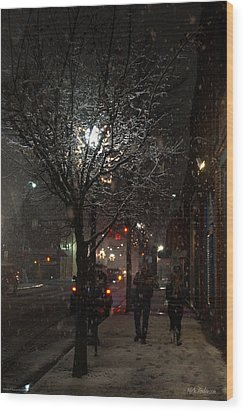 On A Walk In The Snow - Grants Pass Wood Print by Mick Anderson
