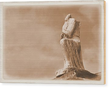 Wood Print featuring the photograph On Bended Knee by Nadalyn Larsen
