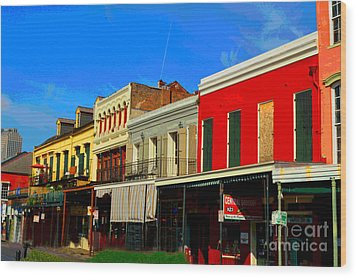 On Decatur Street Wood Print by Alys Caviness-Gober