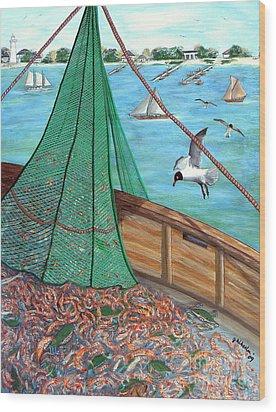 On Deck Wood Print by JoAnn Wheeler