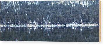 On Donner Wood Print by Donna Blackhall