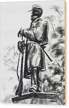 On Duty In Brigadoon  No Ch101 Wood Print