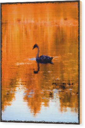 On Golden Pond Wood Print by Jack Gannon