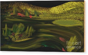 On Golden Pond Wood Print by Sherri's Of Palm Springs