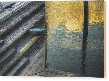 On Golden Pond Wood Print by Wayne Sherriff