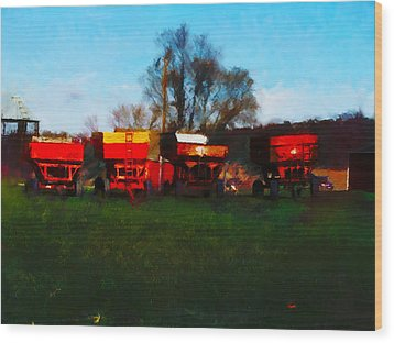 Wood Print featuring the digital art On Hwy 49 North Of Waupaca Wisconsin  by David Blank