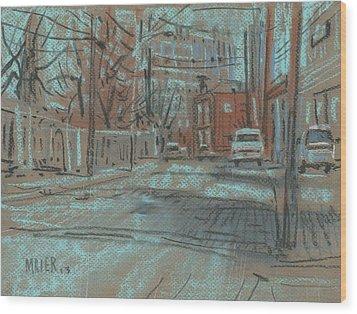 On Marietta Street Wood Print by Donald Maier