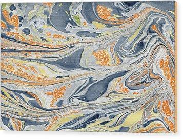 Wood Print featuring the painting On Mount Doom by Menega Sabidussi
