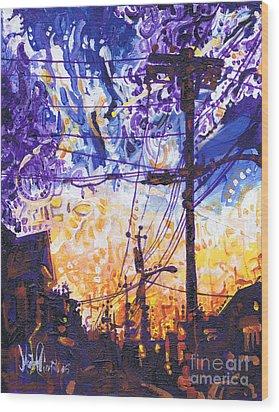 On My Way Home Wood Print