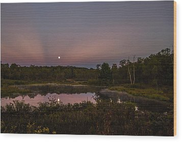 On Our Moonlight Drive Wood Print