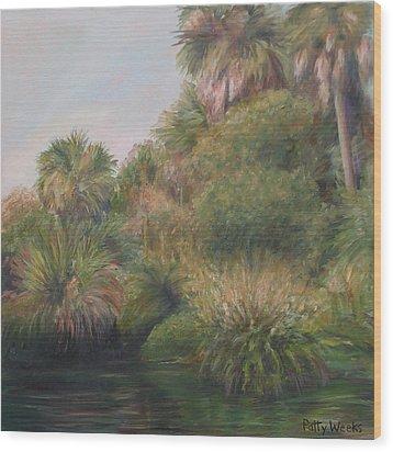 On Pellicer Creek Wood Print