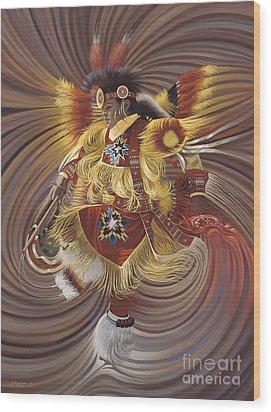 On Sacred Ground Series 4 Wood Print by Ricardo Chavez-Mendez