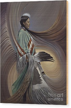 On Sacred Ground Series I Wood Print