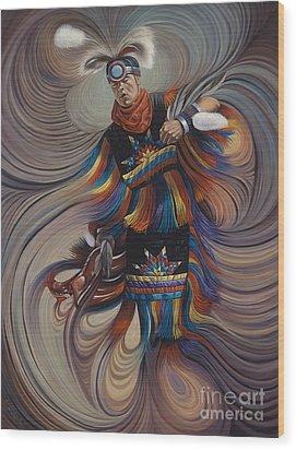 On Sacred Ground Series II Wood Print by Ricardo Chavez-Mendez