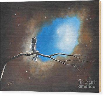On Silent Wings By Shawna Erback Wood Print by Shawna Erback