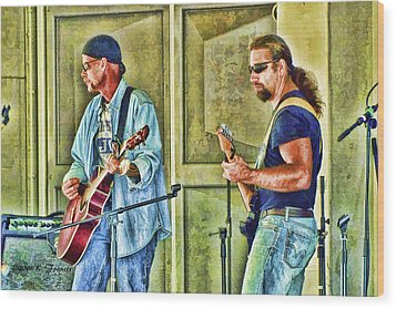 On Stage Wood Print by Kenny Francis