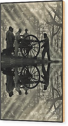 Wood Print featuring the photograph On The Banks by Geraldine DeBoer