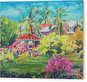 On The Big Island Wood Print by Terry Holliday