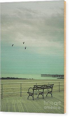 On The Boardwalk Wood Print by Margie Hurwich