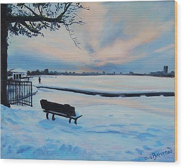 On The Charles Wood Print by Sue Birkenshaw