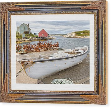 On The Dock Wood Print by Betsy Knapp
