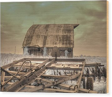 On The Farm Wood Print by Jane Linders