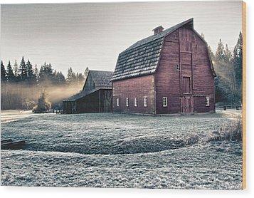 On The Farm Wood Print