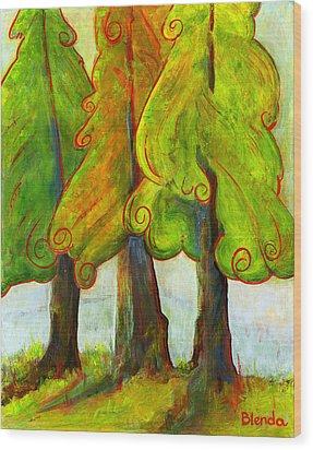 On The Forest's Edge Wood Print by Blenda Studio
