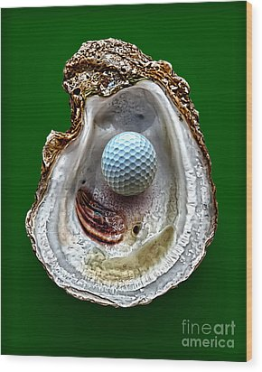 Hole In One Wood Print by Walt Foegelle