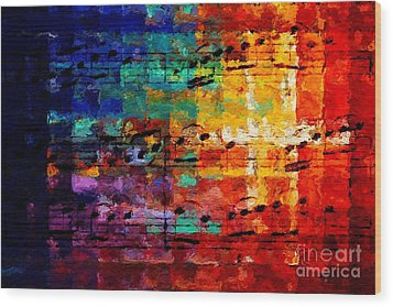 Wood Print featuring the digital art On The Grid 3 by Lon Chaffin