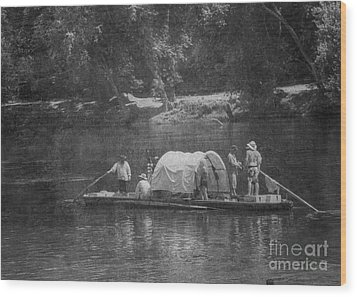 Wood Print featuring the photograph On The James by Pete Hellmann