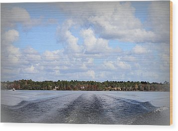 Wood Print featuring the photograph On The Lake by Debra Forand