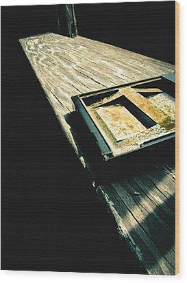 On The Ledge Wood Print by Jessica Brawley