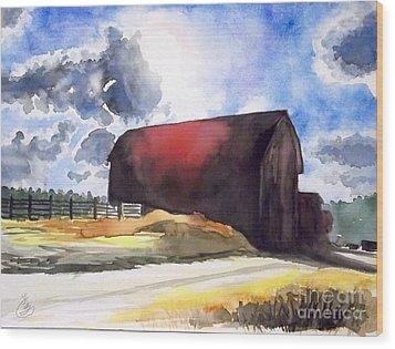 On The Macon Road. - Saline Michigan Wood Print by Yoshiko Mishina