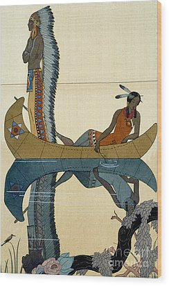 On The Missouri Wood Print by Georges Barbier