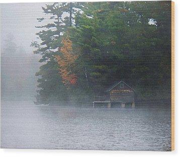 On The Pond Wood Print by Joy Nichols