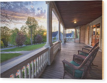 On The Porch Wood Print by Eric Gendron