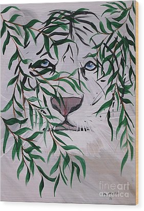 On The Prowl Wood Print by Mark Moore