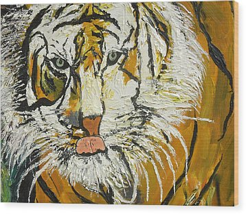 On The Prowl Zoom Wood Print
