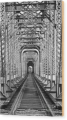 On The Right Track Wood Print by Barbara Chichester