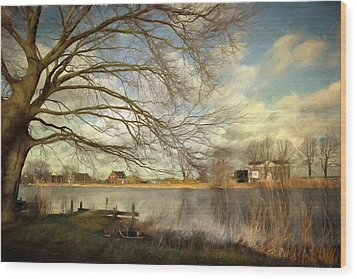 On The River Side Wood Print by Annie Snel