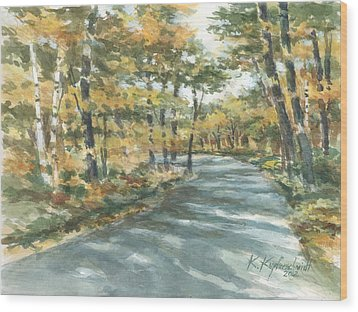 On The Road Home Wood Print by Kerry Kupferschmidt