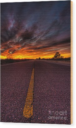 On The Road  Wood Print by Mark Benson